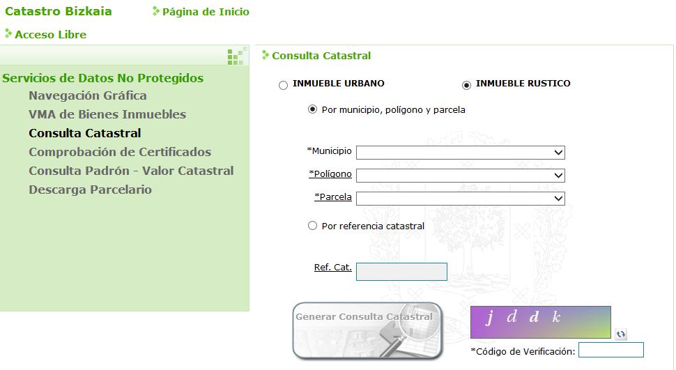 Bizkaia eus temas for Oficina virutal catastro