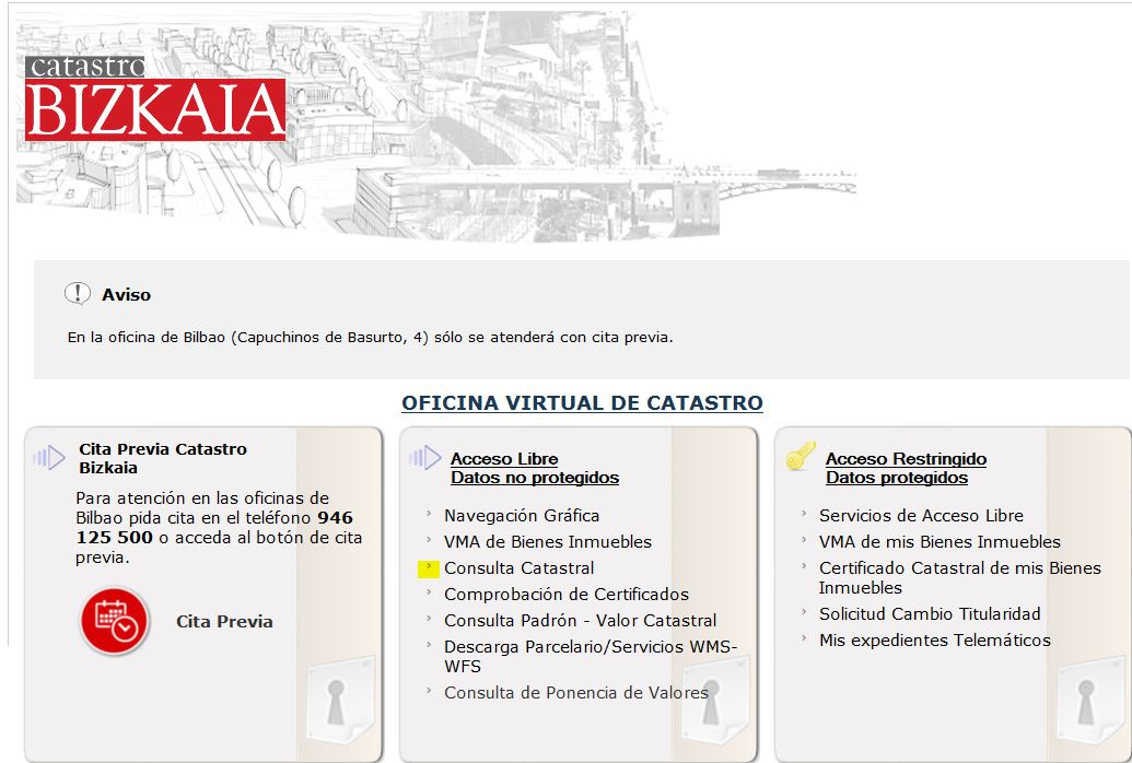 Bizkaia eus temas for Catastro alicante oficina virtual