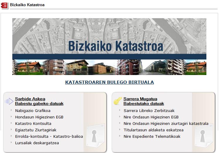 Bizkaia eus sailak gure gida for Catastro alicante oficina virtual