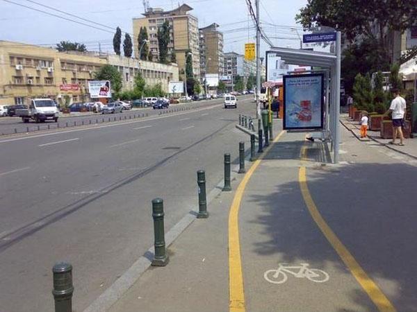 Diseño búlgaro de un carril bici. ¡Todo no vale!