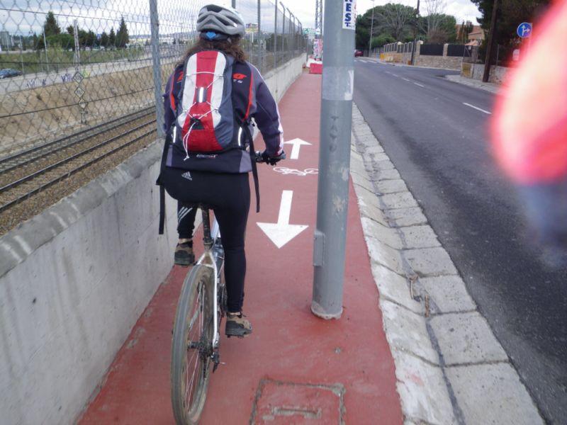 Carril bici chapucero