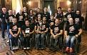 Unai Rementeria harrera egin dio Foru Jauregian Bidaideak Bilbao BSR taldeari