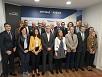 Elena Unzueta, con representantes de las entidades firmantes