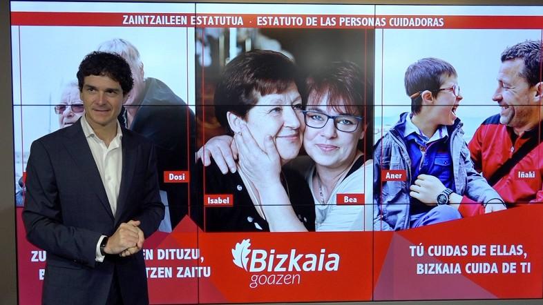 La Diputación Foral de Bizkaia impulsa el Estatuto de las Personas Cuidadoras para cuidar a quienes cuidan