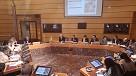 Isabel Sánchez Robles, en un momento de la comisión en Juntas Generales