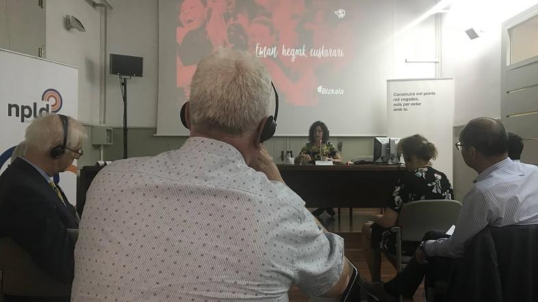 Bizkaia expone en la red europea para la diversidad lingüística su proyecto para fomentar el uso del euskera en el deporte