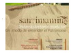Panfleto publicitario de Santimamiñe.