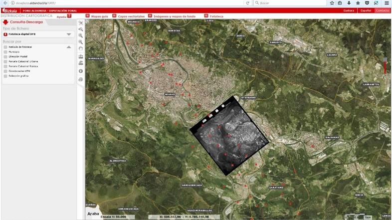 Bizkaiko Foru Aldundiak fototeka digitala izeneko aplikazioa garatu du, zeina kartografia banatzeko ohiko orrian ostatatuta dagoen
