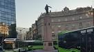 Bizkaibus Zerbitzuko zenbait autobus Bilboko Plaza Biribilean