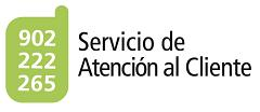 Enlace al Servicio de Antenci�n al Cliente. Numero de telef�no 902 222 265