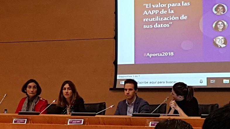 """Bizkaiko Foru Aldundiak bere esperientzia partekatu du """"Encuentro Aporta 2018: Emprendiendo con datos públicos"""" topaketan"""