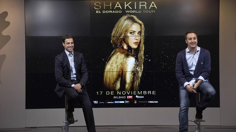 Shakira actuará el 17 de noviembre en el BEC dentro de su tour internacional EL DORADO