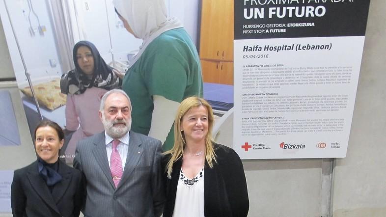 Diputación, Cruz Roja y Metro reeditan la exposición fotográfica sobre la crisis de personas refugiadas