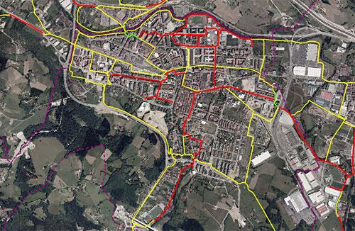 Red ciclable planificada de Durango